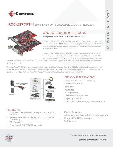 RocketPort ® SMPTE