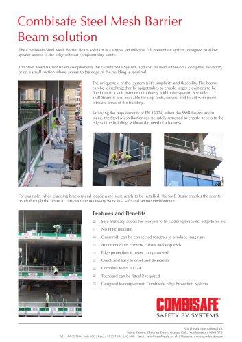 Combisafe Steel Mesh Barrier  Beam solution