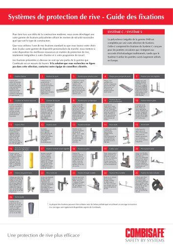 System de protection de rive - guide des fixations
