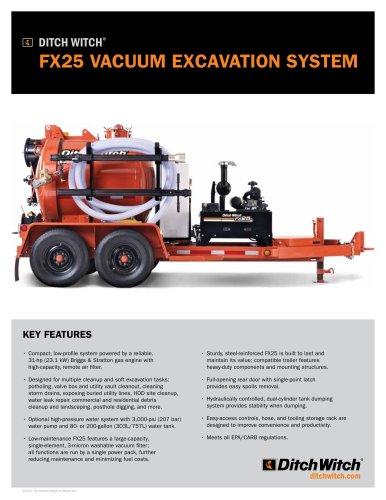 FX25 vacuum excavator
