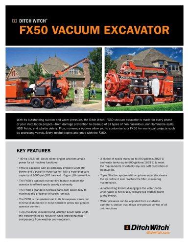 FX50 vacuum excavator