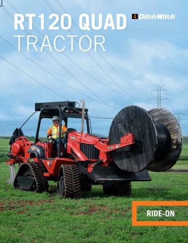 RT120 QUAD RIDE-ON TRENCHER