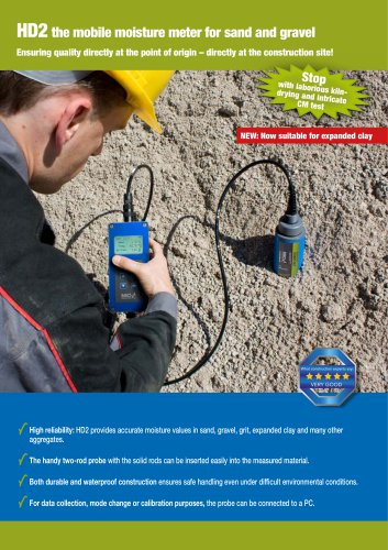 HD2 the mobile moisture meter for sand and gravel