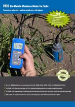 HD2 - The mobile moisture meter for soil and road salt