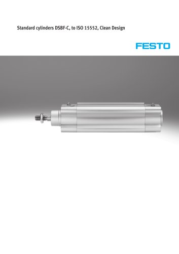 Standard cylinders DSBF-C, to ISO 15552, Clean Design