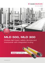 MLD 500, MLD 300 – Multiple light beam safety devices and transceiver with integrated muting