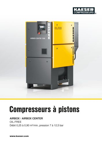 Compresseurs à pistons AIRBOX / AIRBOX CENTER