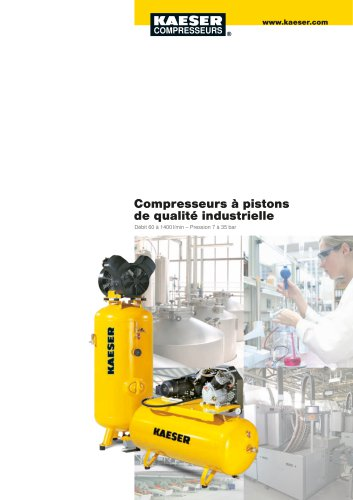Compresseurs à pistons de qualité industrielle