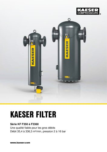 KAESER FILTER Série KF F350 à F3360