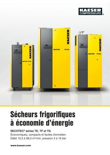 Sécheurs frigorifiques à économie d'énergie SECOTEC® séries TE, TF et TG