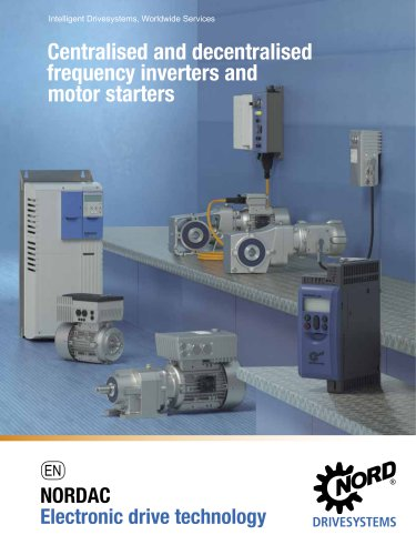 Centralised and decentralised frequency inverters and motor starters
