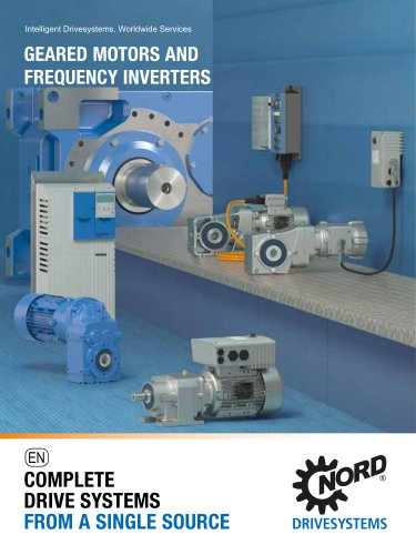 Geared motors and frequency inverter