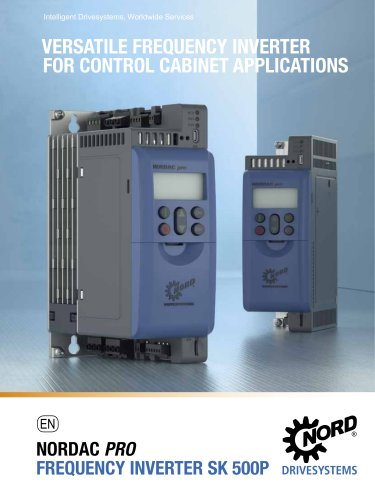 Versatile frequency inverter for control cabinet applications