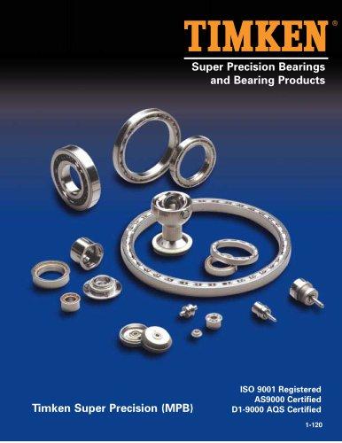 Super Precision Bearings and Bearing Products Catalog