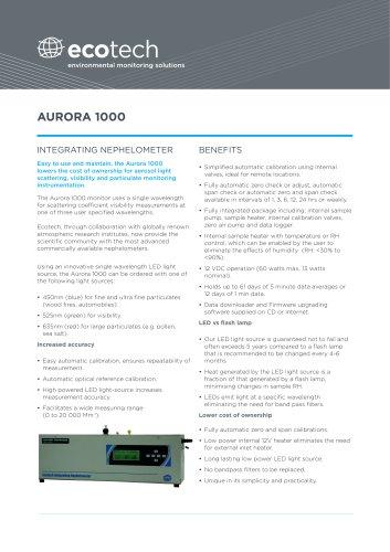 Aurora 1000 Integrating Nephelometer