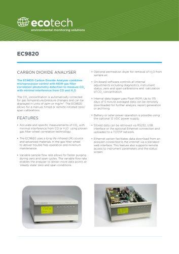 EC9820 Carbon Dioxide Analyzer