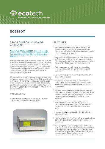 EC9830T CO trace analyzer