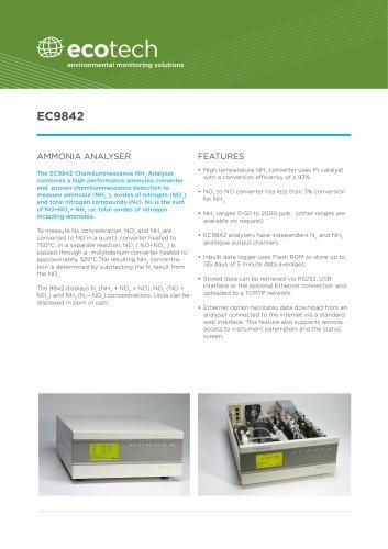 EC9842T Trace Ammonia Analyzer
