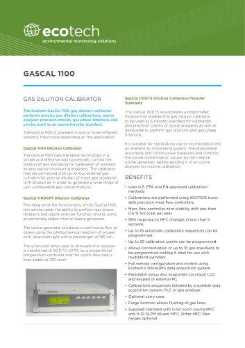 GasCal 1100 gas calibrator