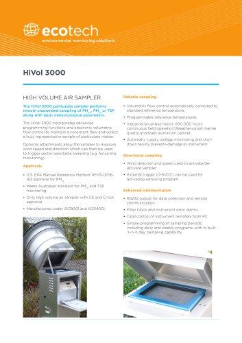 HiVol 3000 High Volume Air Sampler