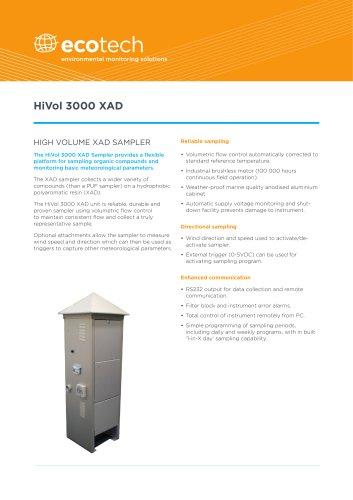 HiVol 3000 XAD Sampler