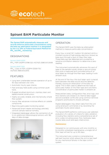 Spirant BAM Particulate Monitor
