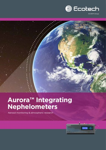 The Aurora range of integrating nephelometers