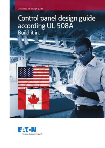 Control panel design guide according UL 508A
