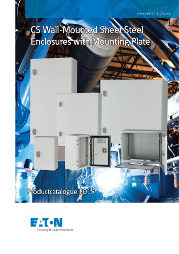 CS Wall-Mounted Sheet Steel Enclosures with Mounting Plate