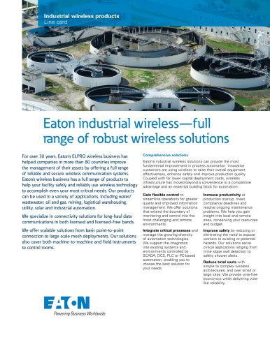 Industrial wireless products
