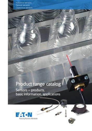 Product range catalog  Sensors products, basic information, applications