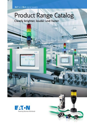 Product Range Catalog SL7 and SL4 signal tower