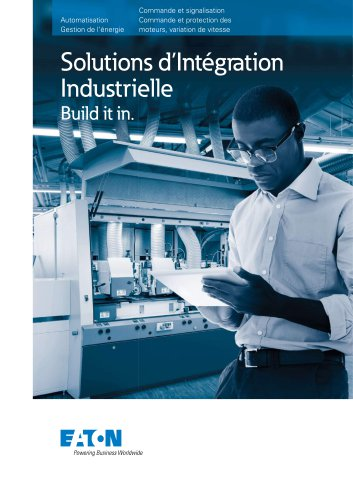 Solutions d'intégration Industrielle Build it in