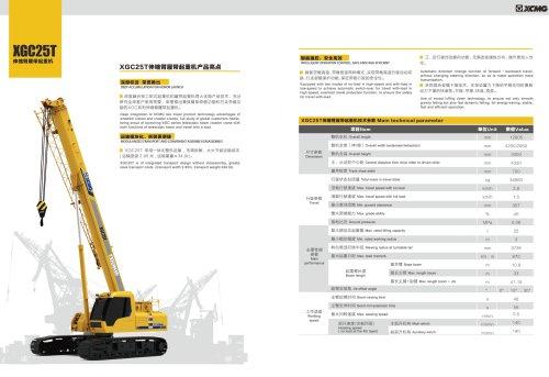 XCMG 25 ton Telescopic Boom Crawler Crane XGC25T