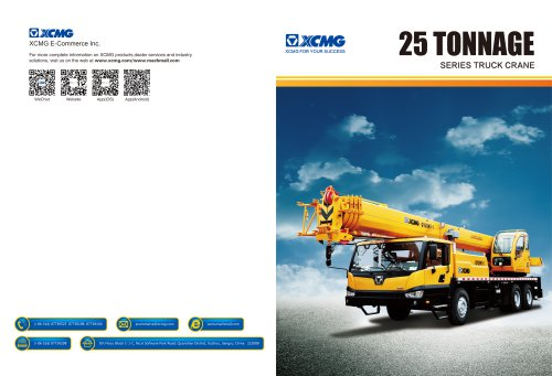 XCMG 25 Tonnage Mobile Truck Crane