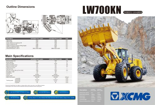 XCMG 7Ton Wheel Loader LW700KN