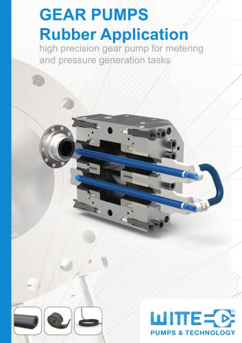 Gear pump for rubber applications