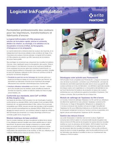 logiciel InkFormulation 6