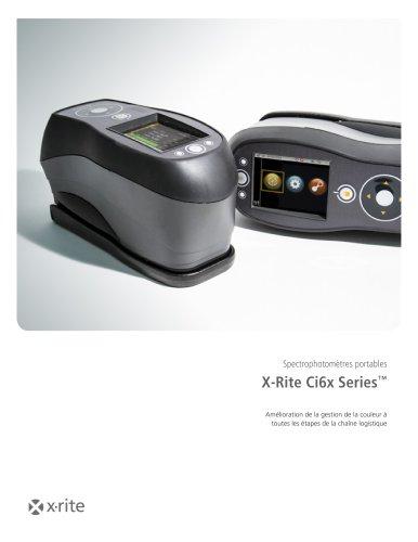 Spectrophotomètres portables X-Rite Ci6x Series™