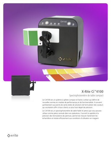 X-Rite Ci™4100 Spectrophotomètre de table compact
