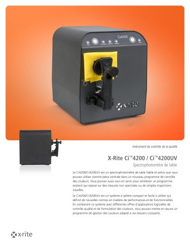 X-Rite Ci™4200 / Ci™4200UV Spectrophotomètre de table
