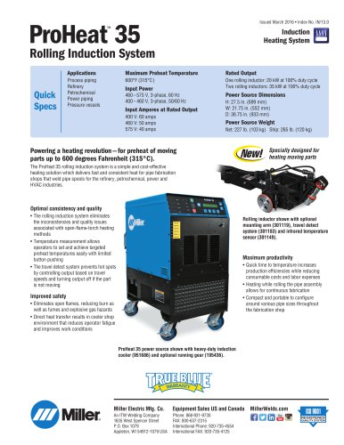 ProHeat™ 35 Rolling Induction System