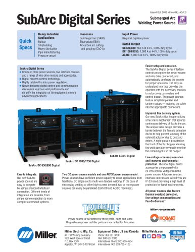 SubArc Wire Drive 400 Digital Low Voltage