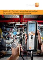 testo 340 – The new 4-sensor flue gas analyzer for emission measurement in industry