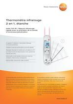 Thermomètre infrarouge 2 en 1, étanche - testo 104-IR