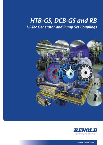 HTB-GS, DCB-GS and RB Generator and Pump Set Couplings