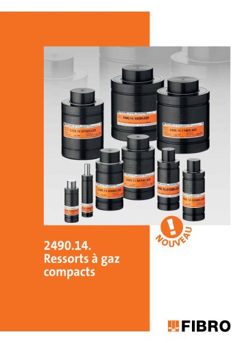 2490.14. Ressorts à gaz compacts