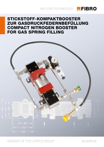 COMPACT NITROGEN BOOSTER FOR GAS SPRING FILLING