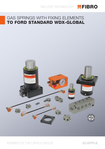 Gas Springs with fixing elements to FORD Standard WDX-Global