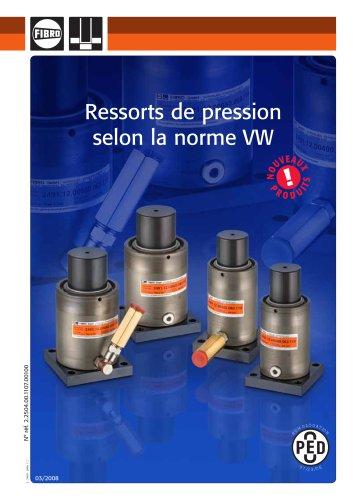 Ressorts de pression selon la norme VW